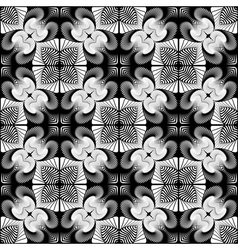 Design seamless monochrome flower pattern vector image