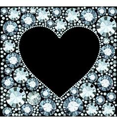 Diamond heart frame vector