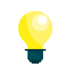energy light bulb icon vector image