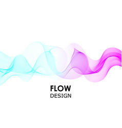 flow shapes design liquid wave background vector image
