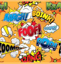 foof seamless comics background vector image