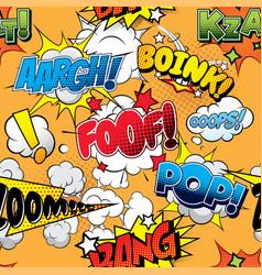 Foof seamless comics background vector