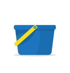 garden bucket icon bucket with water vector image