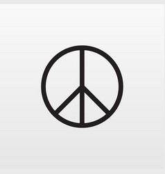 Gray peace icon isolated on background modern fla vector