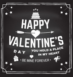 happy valentines day stamp overlay badge card vector image