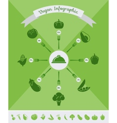 Healthy Food Infographic Template vector