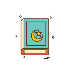 holy quran icon design vector image