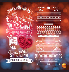 image of wedding announcement theme stationery vector image