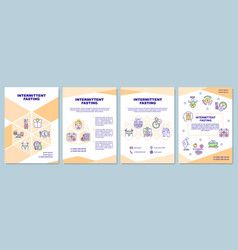 Intermittent fasting brochure template vector