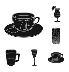 Isolated object drink and bar logo set of vector