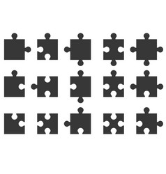 jigsaw icon vector image