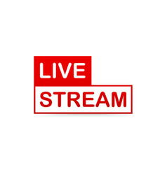 live stream icon red design element with play vector image