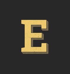 logo letter e gold vintage vector image
