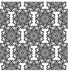mandala lace black seamless pattern vector image