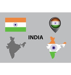 Map of India and symbol vector