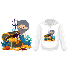 merman theme outfit mock up vector image