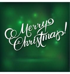 MERRY CHRISTMAS hand lettering - handmade vector