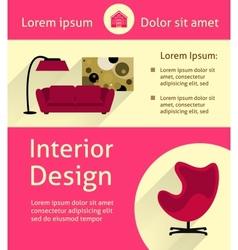 Modern interior poster vector