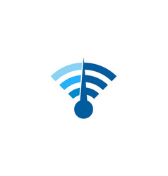 music wifi logo icon design vector image
