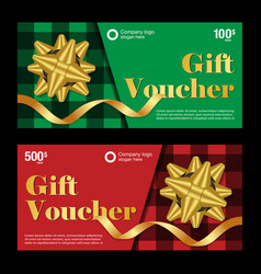 New year and christmas gift voucher vector