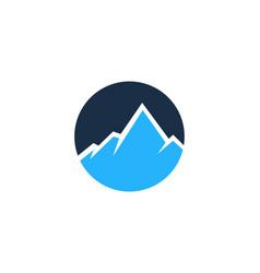 night mountain logo icon design vector image
