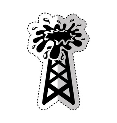 oil tower isolated icon vector image