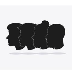 People head silhouette design vector