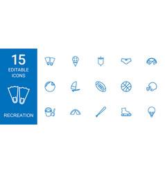Recreation icons vector