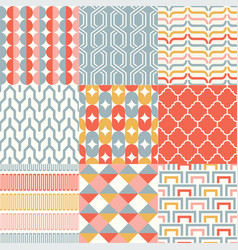 retro abstract seamless pattern set vector image