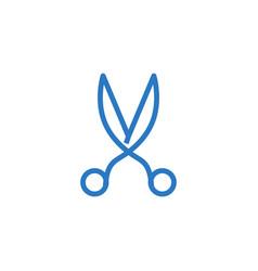scissors related glyph icon vector image