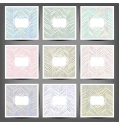 Set Grunge hand painted abstract pattern vector image