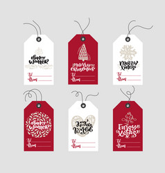 Set hand drawn doodle scandinavian christmas vector