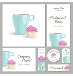 Set of corporate style restaurant vector image