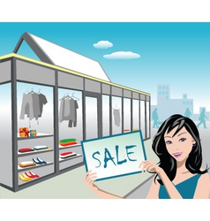 shop sale vector image