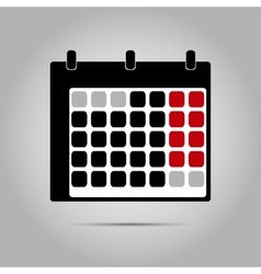 simple calendar icon vector image