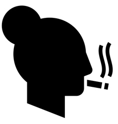 Smoking woman icon vector image