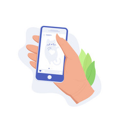 social media app concept vector image