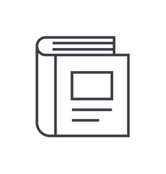 standing book line icon sign vector image