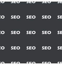 Straight black SEO pattern vector image