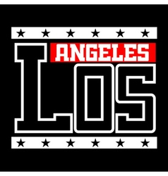 T shirt typography Los Angeles California vector