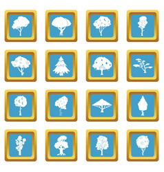 trees icons azure vector image