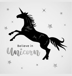 unicorns horse cute dream fantasy cartoon vector image