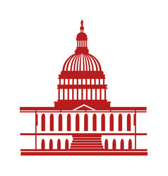 United states of america capitol building vector