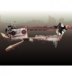 urban music frame vector image