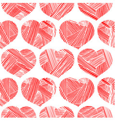 vintage pattern with hearts vector image