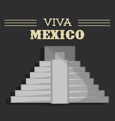 Viva mexico festival heritage vector