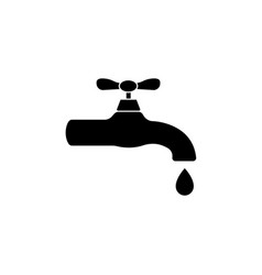 water tap icon black on white background vector image