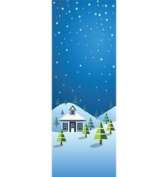 winter banner2 vector image