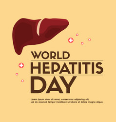 World hepatitis day design banner vector
