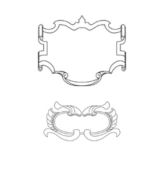 Abstract Draw Shield vector image